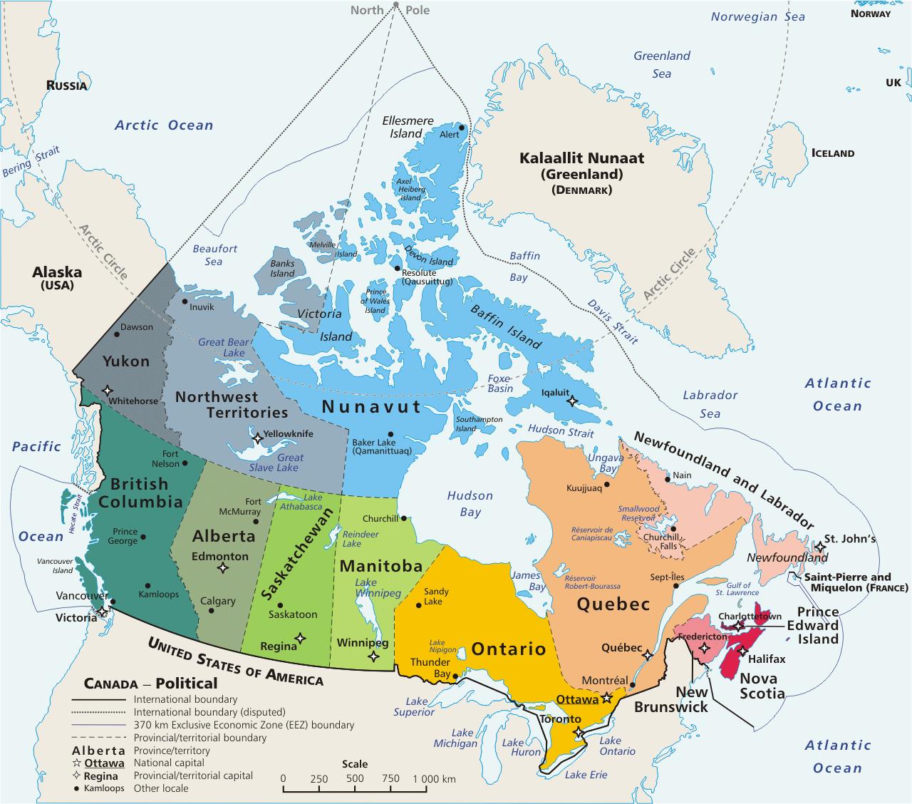 Kanada Şehirleri Haritası