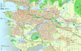 Kanada Vancouver Haritası